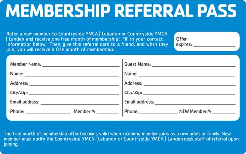 Member Referral Program | Countryside YMCA Warren County OH